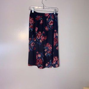 Everly Small Black Floral Skirt